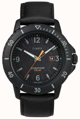 Timex | cuir noir solaire gallatin | cadran noir | TW4B14700D7PF