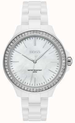 BOSS | bracelet blanc pour femme | cadran blanc | 1502454