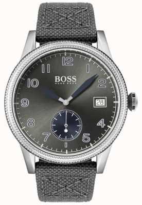 Boss | bracelet homme en toile grise | montre de legs | 1513683