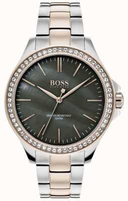BOSS | bracelet en acier inoxydable deux tons pour femmes | 1502452