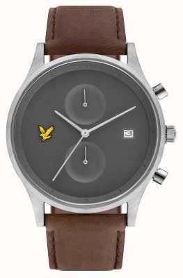 Lyle & Scott Mens the hope chronographe marron bracelet en cuir cadran gris LS-6007-03