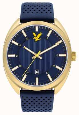 Lyle & Scott Bracelet cuir tevio bleu pour homme LS-6015-04