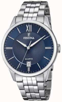 Festina | bracelet en acier inoxydable pour hommes | cadran bleu | F20425/2