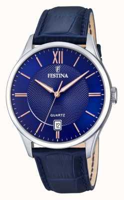 Festina | mens en acier inoxydable | cadran bleu / rose | tempête bleue | F20426/5