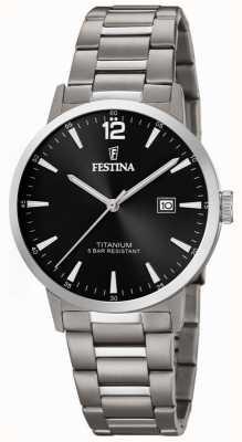 Festina | montre en titane pour hommes | cadran noir | bracelet en titane | F20435/3