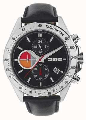 DeLorean Motor Company Watches 1981 cuir noir | cadran noir | cuir noir | DMC-8