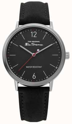 Ben Sherman | bracelet en cuir noir | cadran noir | BS019B