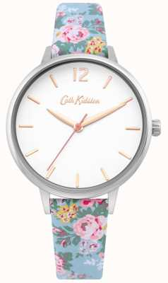 Cath Kidston | bracelet floral bleu clair pour femme | cadran blanc | CKL067U