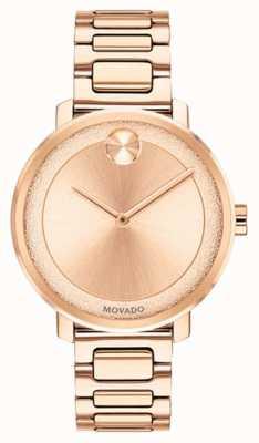 Movado Audacieux | montre plaquée or rose | 3600503