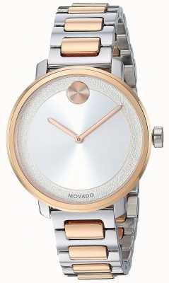 Movado Audacieux | bracelet en acier inoxydable deux tons | 3600504