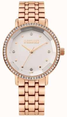 Missguided | bracelet en acier inoxydable or rose des femmes | cadran blanc | MG021RGM