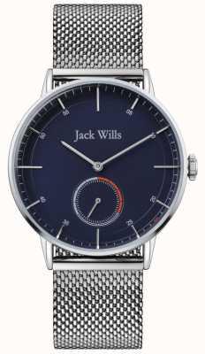 Jack Wills | mens batson ii | bracelet en maille d'acier | cadran bleu | JW002BLMH