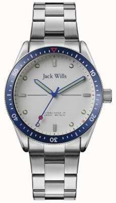 Jack Wills | Mens Mill Bay | bracelet en acier inoxydable | cadran argenté | JW015SLSL