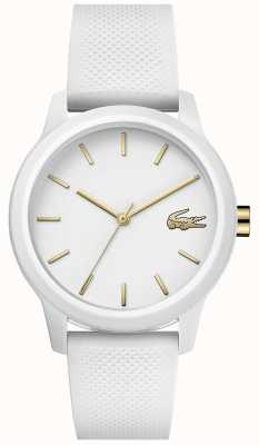 Lacoste | femmes 12-12 | bracelet en silicone blanc | cadran blanc | 2001063
