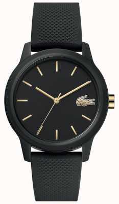 Lacoste | femmes 12-12 | bracelet en silicone noir | cadran noir | 2001064