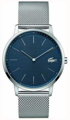 Lacoste | mens moon | bracelet en maille d'acier | cadran bleu | 2011005