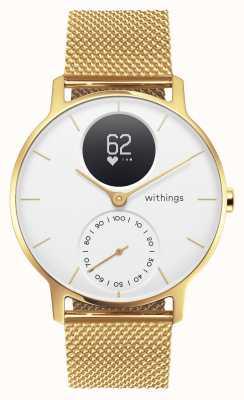 Withings Acier hr 36mm édition limitée or milanais (+ bracelet en caoutchouc) HWA03B-36WHT-GOLD-MESH GOLD-ALL-INT