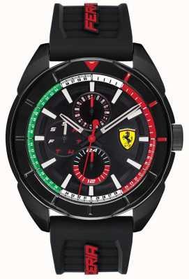 Scuderia Ferrari | mens forza | bracelet en caoutchouc noir | cadran noir chronographe | 0830577