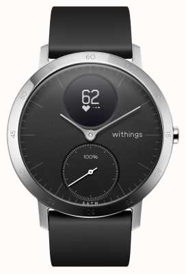 Withings Bracelet acier silicone noir 40mm HWA03B-40BLACK-ALL-INTER