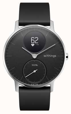 Withings Acier hr 36mm bracelet en silicone noir ex-affichage HWA03-36BLACK-ALL-INTEREX-DISPLAY