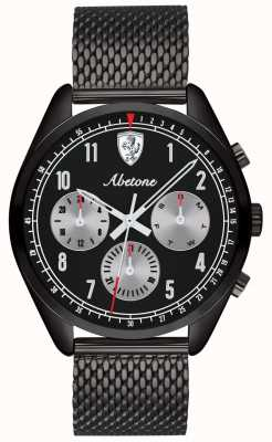 Scuderia Ferrari | homme abetone | bracelet en maille noire | cadran noir | 0830573