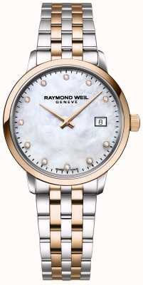 Raymond Weil | diamant toccata femme | acier inoxydable bicolore | 5985-SP5-97081