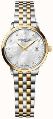 Raymond Weil | diamant pour femmes toccata | bracelet en acier inoxydable deux tons 5985-STP-97081