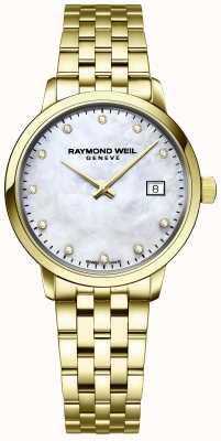 Raymond Weil | diamant pour femmes toccata | bracelet en acier inoxydable doré | 5985-P-97081