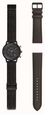 Breil | montre maille d'acier stainlss noir hommes | sangle interchangeable | TW1808