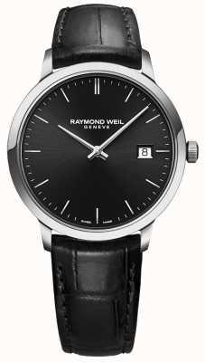 Raymond Weil | toccata mens cuir noir | cadran noir | 5485-STC-20001