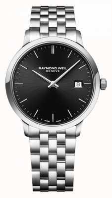 Raymond Weil | bracelet en acier inoxydable toccata messieurs | cadran noir | 5485-ST-20001