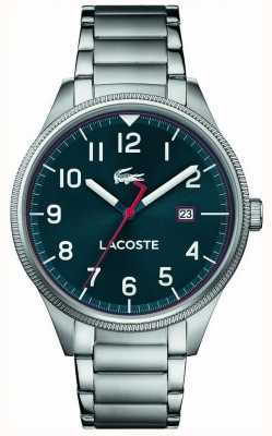 Lacoste | mens continental | bracelet en acier inoxydable | cadran bleu | 2011022