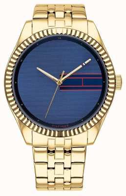 Tommy Hilfiger | acier inoxydable doré pour femme | cadran bleu | 1782081