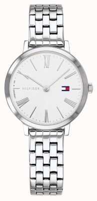 Tommy Hilfiger | bracelet en acier inoxydable pour femme | cadran blanc | 1782056