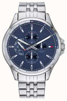 Tommy Hilfiger | bracelet en acier inoxydable pour hommes | cadran bleu | chronographe | 1791612