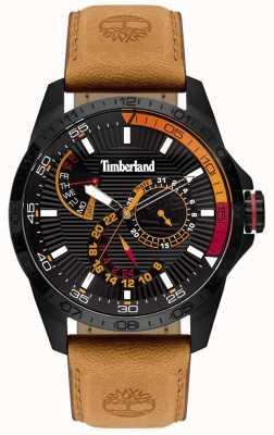 Timberland | montre oakham pour homme | bracelet en cuir beige | cadran noir | 15641JSB/02