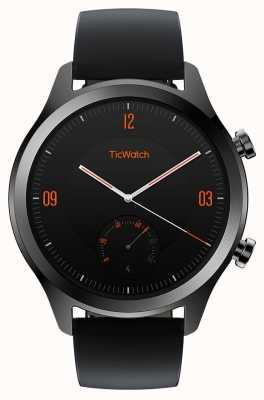 TicWatch C2 | montre intelligente onyx | bracelet en cuir noir 130688-WG12036-ONYX