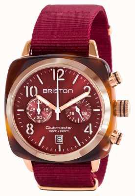Briston Bracelet nato rouge en acétate clubman doré et rouge 15140.PRA.T.8.NBDX