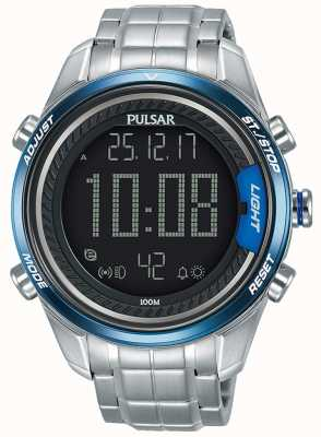 Pulsar Bracelet numérique homme en acier inoxydable P5A003X1