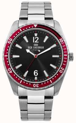Ben Sherman | montre homme plongeur ronnie | cadran noir sunray | WB037ESM