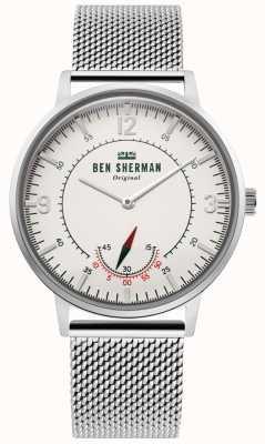 Ben Sherman | héritage de portobello pour hommes | cadran blanc cassé | maille inoxydable WB034SM
