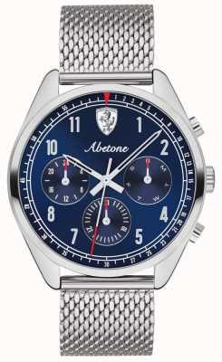 Scuderia Ferrari | homme abetone | cadran bleu | bracelet en maille d'argent | 0830572