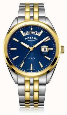 Rotary | mens henley | cadran bleu | bracelet en acier inoxydable | GB05291/05