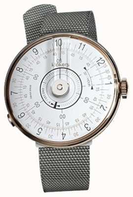 Klokers Klok 08 bracelet en acier milano avec tête de montre blanche KLOK-08-D1+KLINK-05-MC1