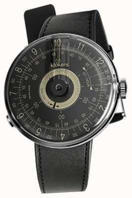 Klokers Klok 08 cadran noir bracelet simple satin noir KLOK-08-D3+KLINK-01-MC1
