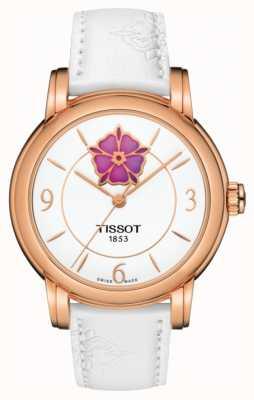 Tissot Bracelet en cuir blanc avec coeur powermatic 80 pour femme T0502073701705