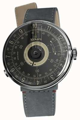 Klokers Klok 08 bracelet noir alcantara strait simple bracelet KLOK-08-D3+KLINK-04-LC11