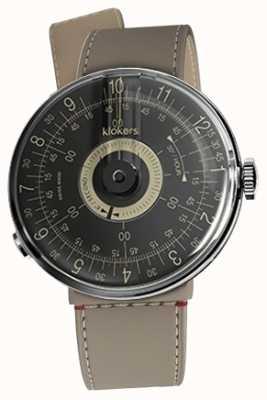 Klokers Klok 08 cadran noir grege strait bracelet simple KLOK-08-D3+KLINK-04-LC9