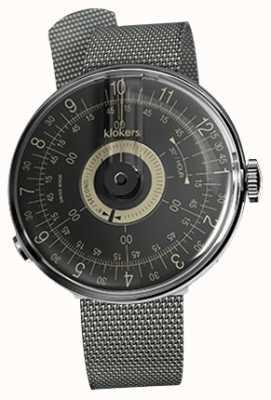 Klokers Klok 08 bracelet milano acier cadran noir KLOK-08-D3+KLINK-05-MC1