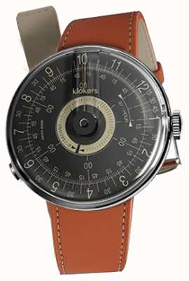 Klokers Klok 08 bracelet simple bracelet en alcantara orange avec cadran noir KLOK-08-D3+KLINK-01-MC5